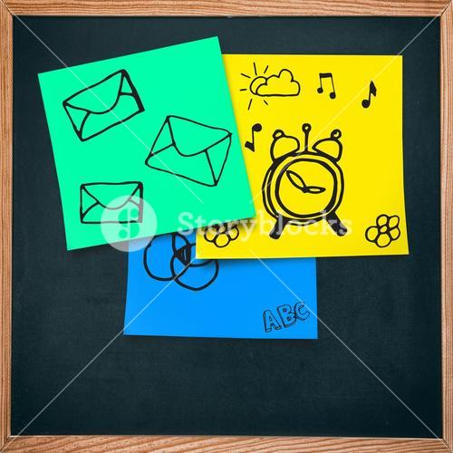 Composite image of email icon