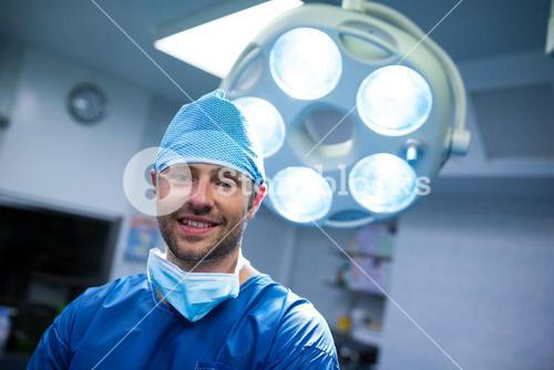 Portrait of surgeon in operation room
