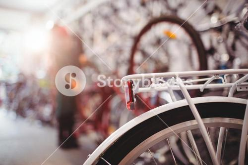 Rear bicycle rack and wheel