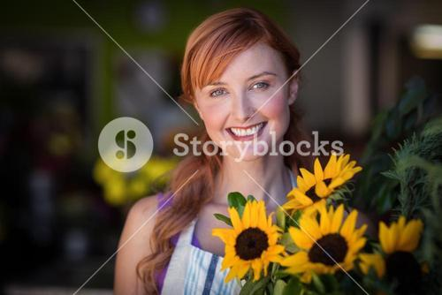 Portrait of female florist smiling