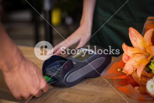 Man making payment with his credit card