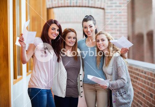 Students having their results