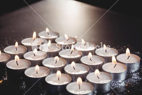 Candles burning during christmas
