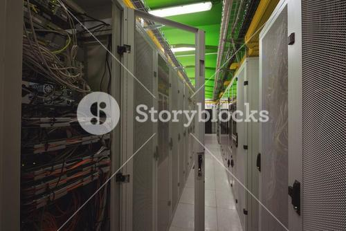 View of rack mounted server