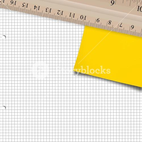 Composite image of yellow paper