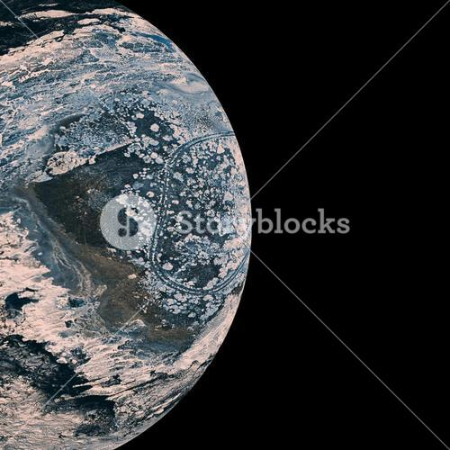 Composite image of earth