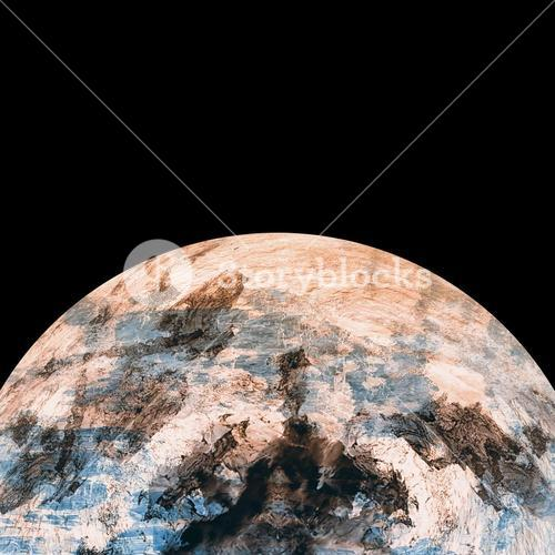 Digitally composite image of planet earth