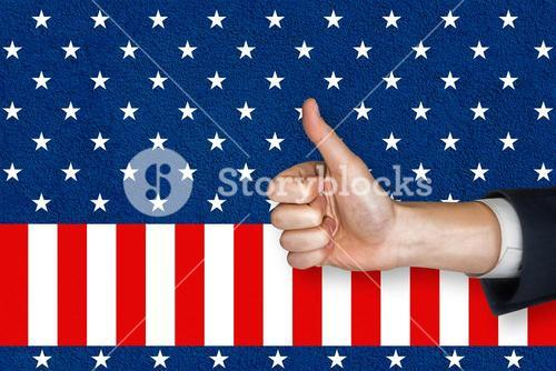Digital composite of thumbs up