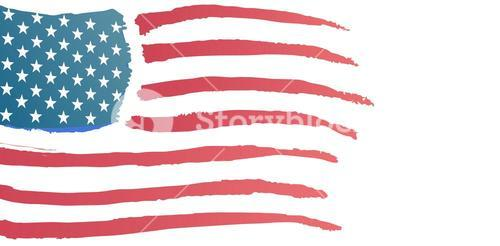 Digitally generated image of American flag