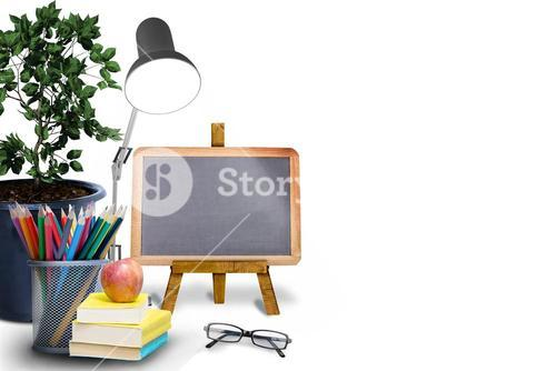 Composite image of school objects
