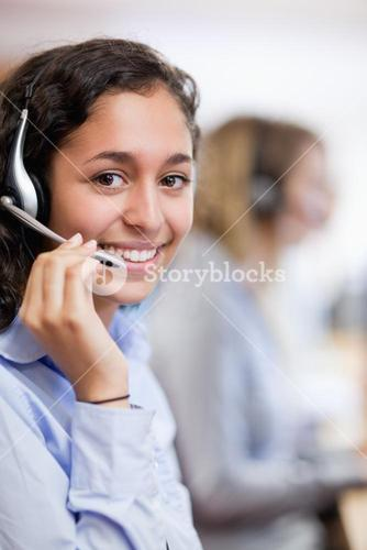 Portrait of a smiling customer assistant