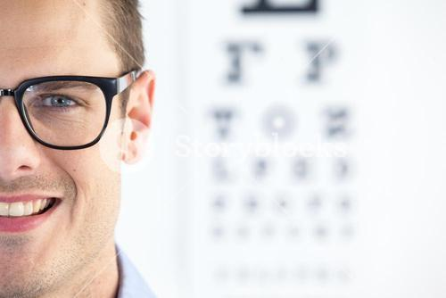 Man wearing spectacles