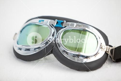 Close-up of aviator goggles