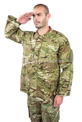 Soldier giving a salute