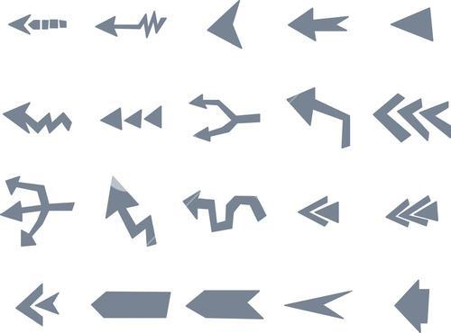 Various arrow sign icons