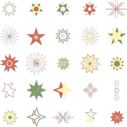 Various stars vector icons