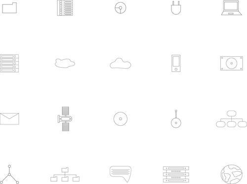 Various web icons