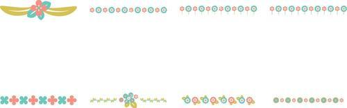 Various flower line vector icons