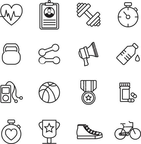 Various fitness vector icons
