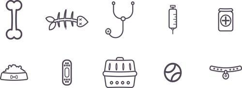 Various vector icons