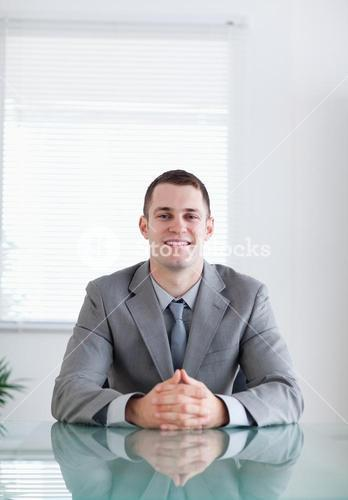 Close up of businessman in a successful negotiation