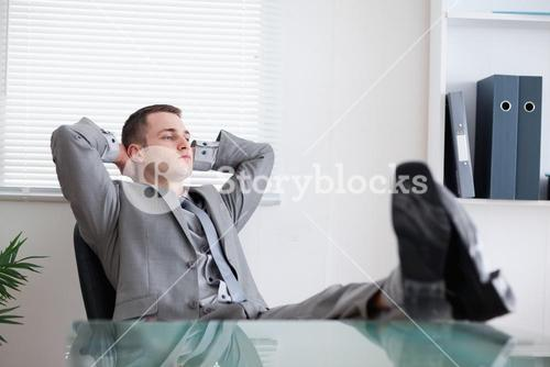 Businessman taking a rest