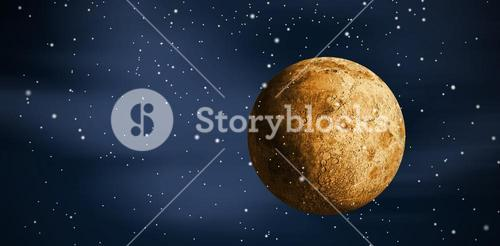 Composite image of digitally generated full gold moon