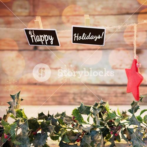 Composite image of happy holidays