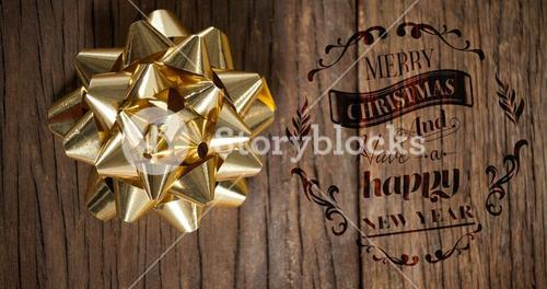 Composite image of christmas greeting