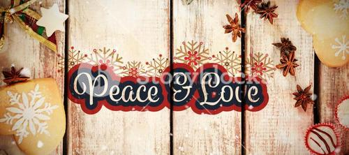 Composite image of peaceful message