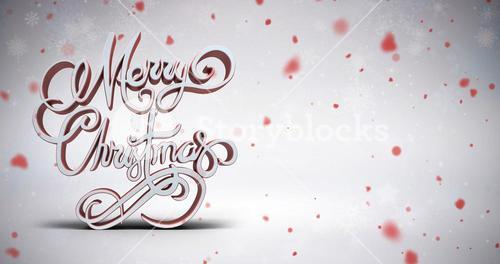 Composite image of three dimensional text of merry christmas