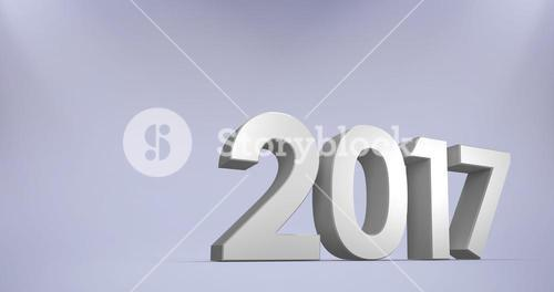 Composite image of new year number