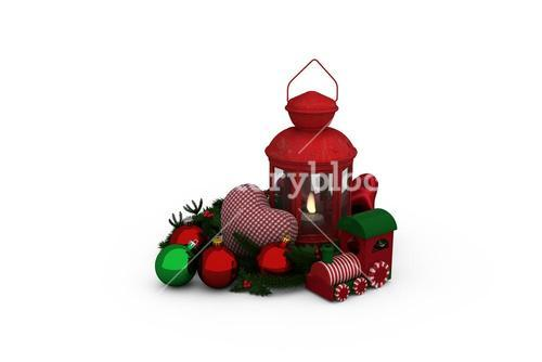 Digital image of Christmas accessories