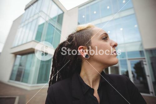 Close-up of businesswoman