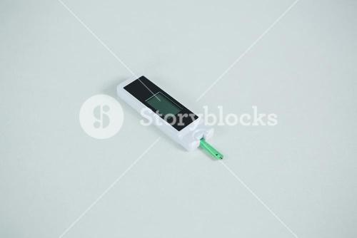 Close-up of glucometer