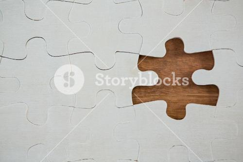 Jigsaw puzzle with one piece separately