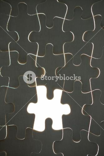 One piece of puzzle missing from jigsaw