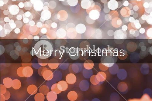 Christmas Message on Blurry Background Design