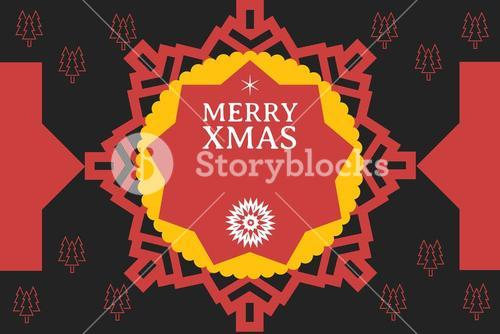 Christmas Message on Black and Red Background Design