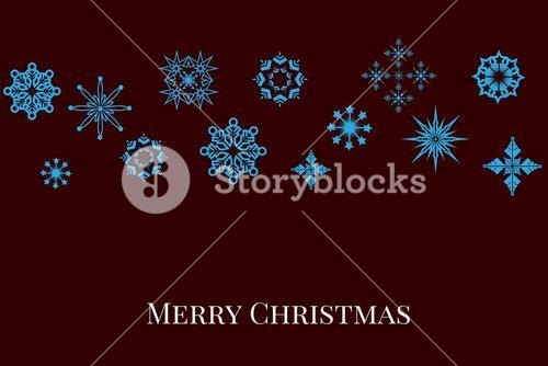Christmas message and Blue Stars on Black Background Design