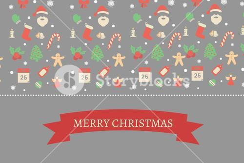 Christmas Message on Grey Background Design