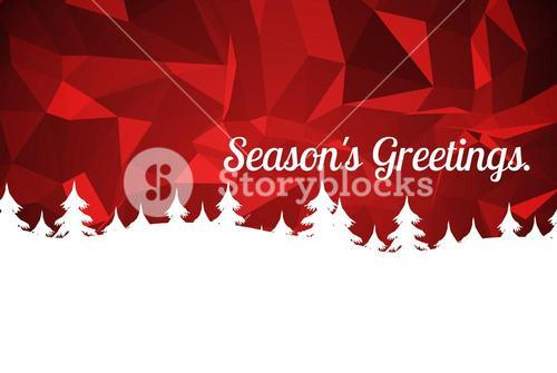 Christmas Message on Red Background Design