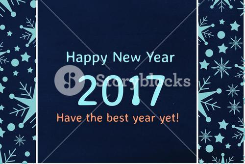 New Year Message on Black Background Design