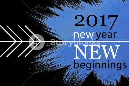 New Year Message on Black and Blue Background Design