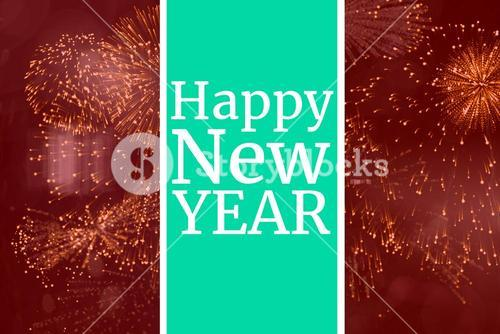 New Year Message on Red Background Design