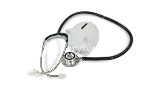 Stethoscope with piggy bank
