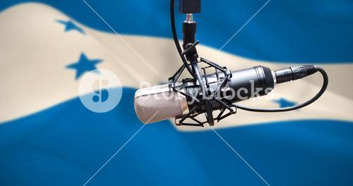 Composite image of condenser microphone