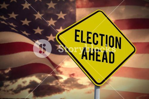 Composite image of election ahead