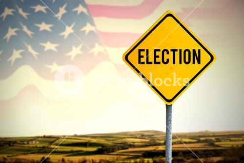 Composite image of election text