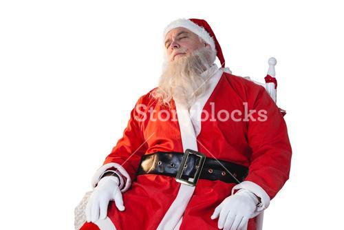Santa claus relaxing on chair